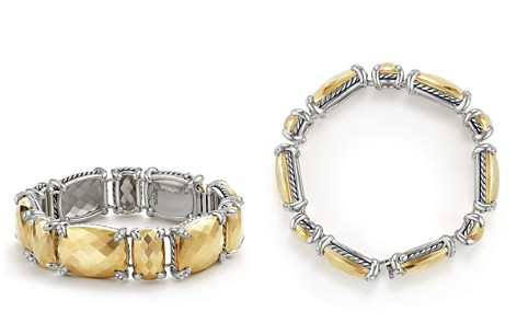 David Yurman Châtelaine Linear Bracelet with Faceted 18K Yellow Gold Domes & Diamonds - Bloomingdale's_2